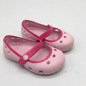 Crocs Pink Mary Jane Shoes